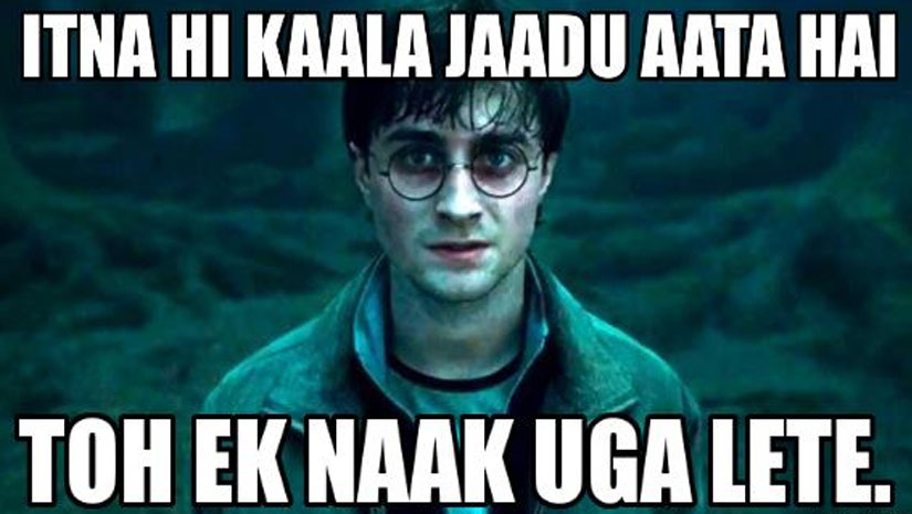 Legit Ummm No BURNNN harry potter hindi meme funbuzztime