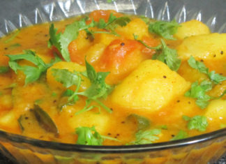 Simple Aloo Curry With Curd Recipe