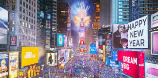 Places in the world to celebrate New Year 2018