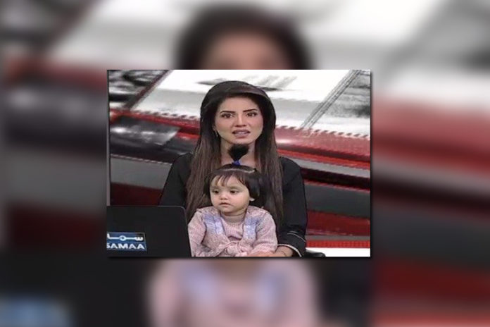 Pak Anchor Goes On Air flow With Daughter To Provide Powerful Message About Rape & Murder Of 7-Year-Old